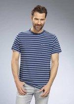 T-Shirt, kleur blauw gestreept, maat M