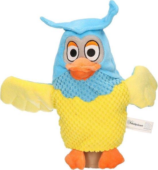 Pluche Fabeltjeskrant meneer de Uil handpop knuffel 25 cm speelgoed - Fabeltjeskrant poppen - Uilen bosdieren knuffels - Poppentheater speelgoed kinderen - Multi