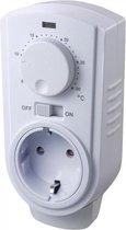 SCHLOSS plugin thermostaat elektronisch mechanisch en geschikt voor verwarmen of koelen met externe sensor