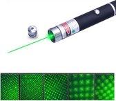 TR Deals ® Groene Laserpen met 5 in 1 patroontjes | Laserpointer | Presenter | krachtige groene straal