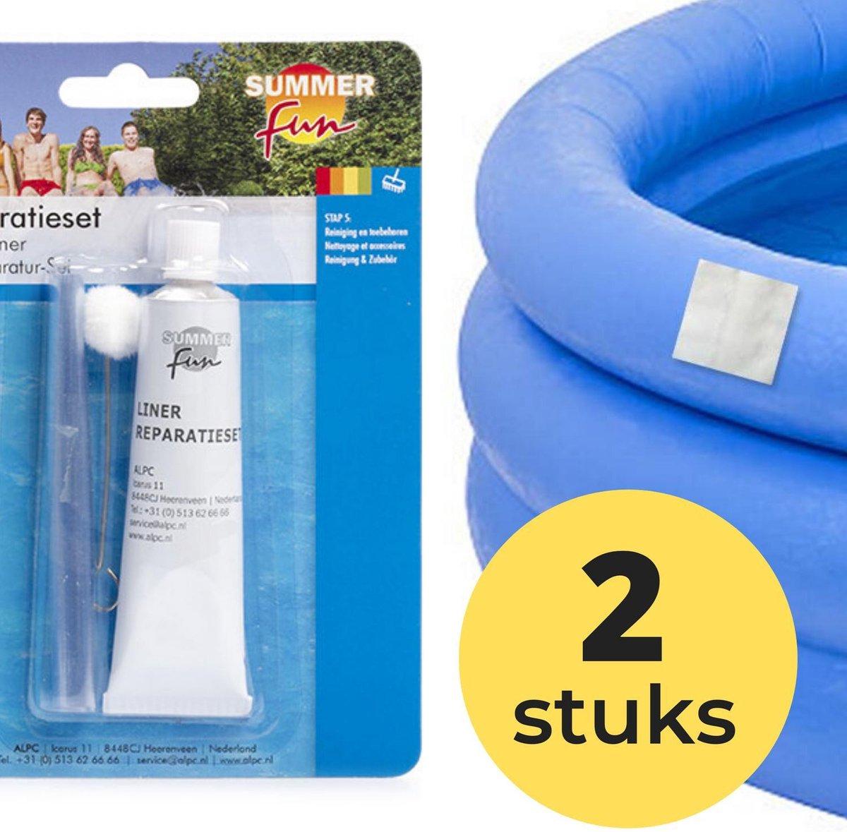 2x Zwembad Onderhoud - Liner Lijm Plakkers Reparatie Set - Geschikt voor Opblaasbaar Zwembad en speelgoed - Pless®