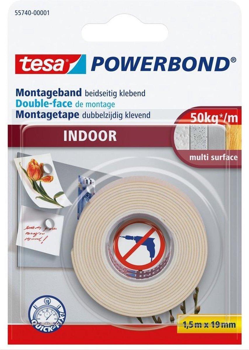 Tesa Montagetape Indoor - 1,5 m x 19 mm