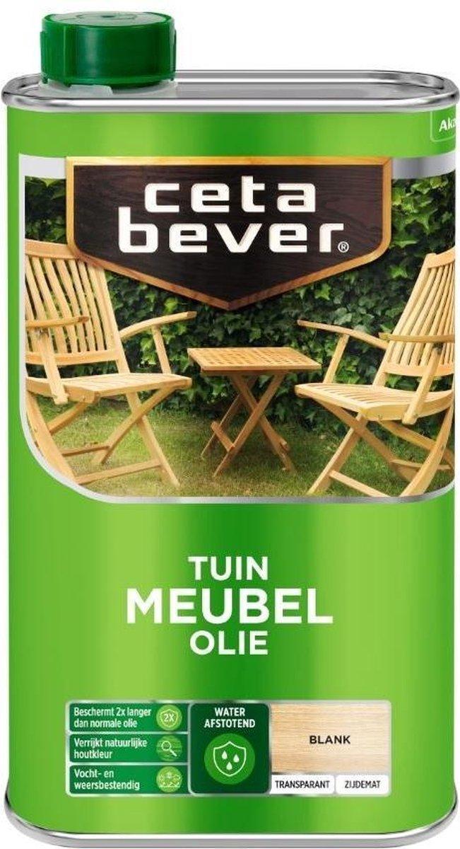 Cetabever Tuin Meubel Houtolie - Zijdemat - Blank - 0,5L
