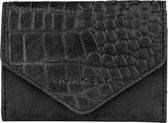 BURKELY Croco Cody Wallet S Portemonnee - Zwart