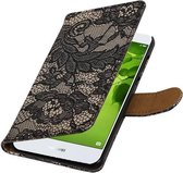 Wicked Narwal | Lace bookstyle / book case/ wallet case Hoes voor Huawei Nova 2 Zwart