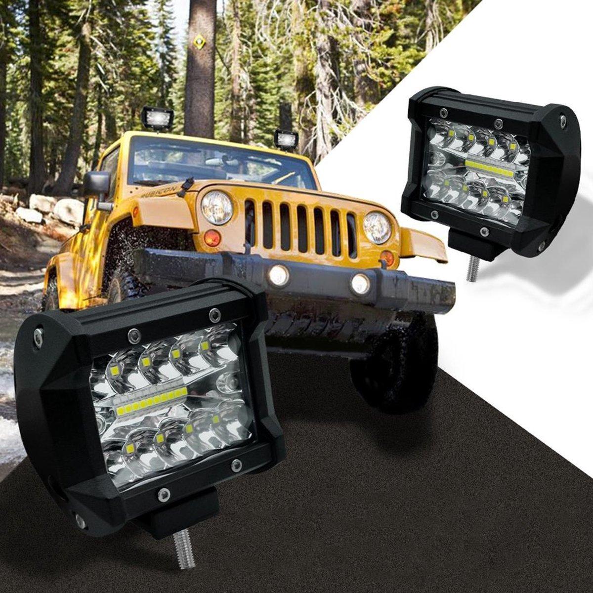 4 inch 60 W 2100LM LED Strip Lamp Werken Refit Off-road Voertuig Licht Dak Strip Licht