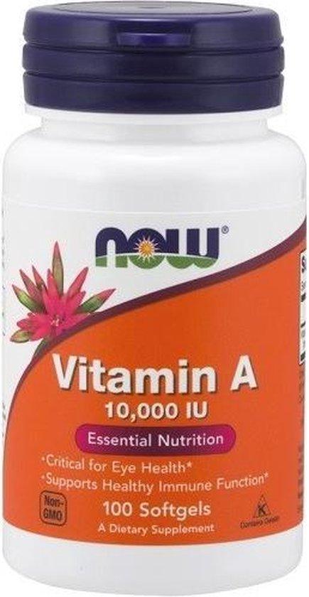 Vitamine A 10000IU 100softgels