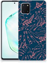 Back Cover Samsung Note 10 Lite TPU Siliconen Hoesje Palm Leaves