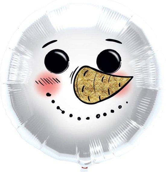 Folieballon Sneeuwpop - 45 Centimeter