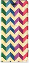 Sony Xperia 5 Hoesje met Magneet Zigzag Color