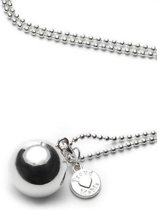Product: babybel ballchain verzilverd bolletje, van het merk Proud MaMa