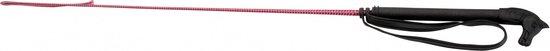 Red Horse Rijzweep Horsehandle 65 Cm Fiberglass/rubber Donkerroze