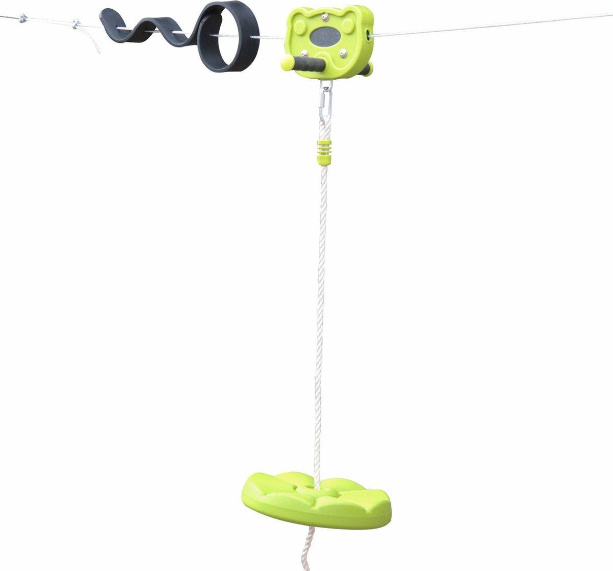 ALIZE - Kabelbaan voor kinderen van 30m met rond zitje, anti-sliphandgrepen, dempingssysteem