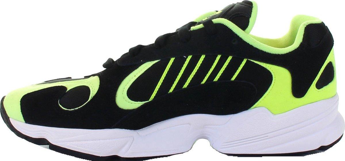 adidas Yung-1 Sneakers - Maat 45 1/3 - Mannen - zwart/lime groen/wit Sneakers