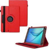 Universele Tablet Hoes voor 10 inch Tablet - 360° draaibaar - Rood