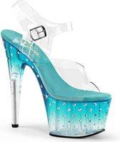 Pleaser Sandaal met enkelband -36 Shoes- STARDUST-708T US 6 Blauw