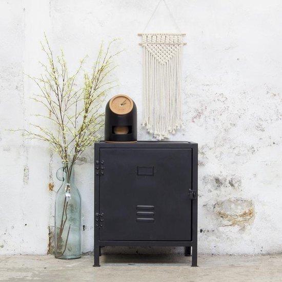 Nachtkastje Zwart - Metaal - 50x40x50cm - Nachtkast Dex zwart (links) - Giga Meubel