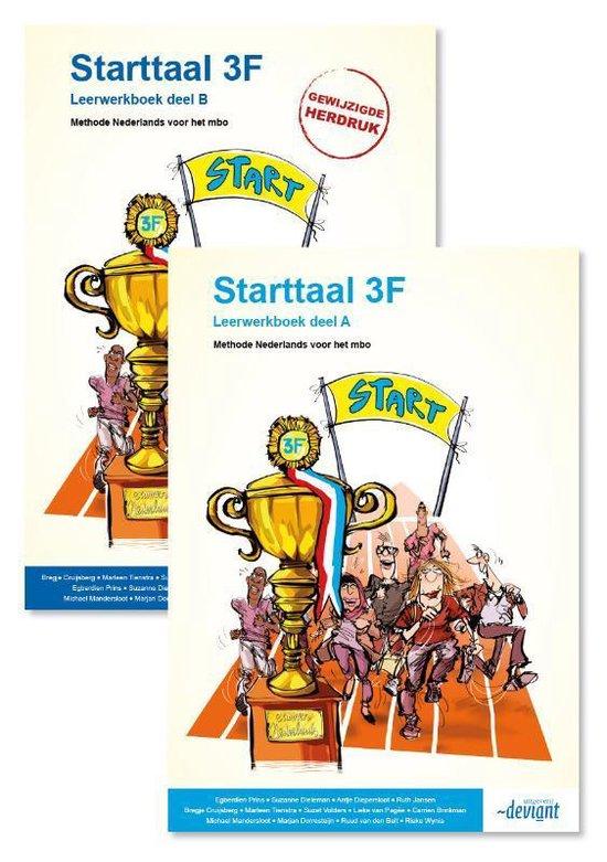 Boek cover Starttaal 3F - Leerwerkboek deel A + B van Ruud van den Belt (Paperback)