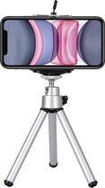 Mini Statief Smartphone Tripod Camera Telefoon Houder - Zilver