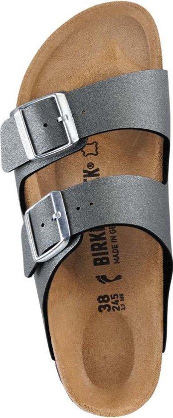Birkenstock Arizona Icy Metallic Anthracite narrow Icy Metallic Maat 36