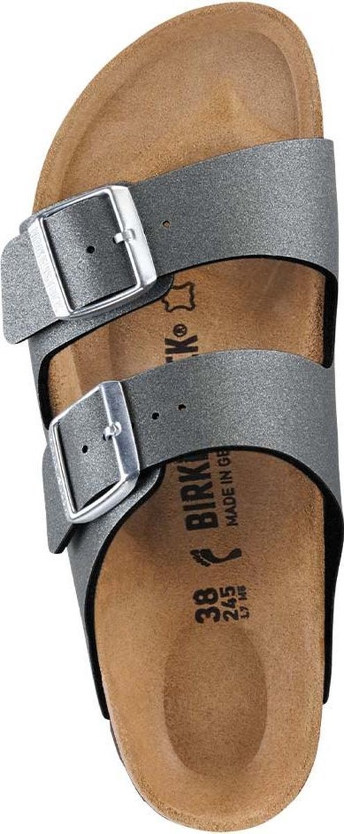 Birkenstock Arizona Icy Metallic Anthracite narrow Icy Metallic Maat 36