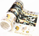 Moodadventures | Washi Tape | Set van 5 Rollen Asia White Gold | Glanzende Tape