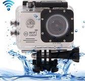SJ7000 Full HD 1080P 2.0 inch LCD scherm Novatek 96655 WiFi Sport Camcorder camera met onderwaterbehuizing, 170 graden HD groothoeklens, 30 m waterdicht (zilver)