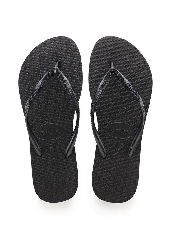 Havaianas Slim Dames Slippers - Black - Maat 37/38