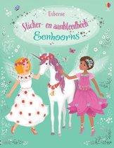 Sticker- en aankleedboek Eenhoorns