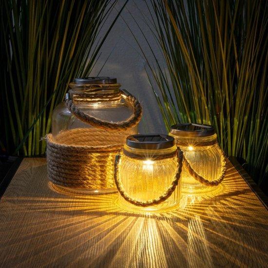3-delige Solar LED Tuinverlichting Set - Zonne-energie - Schemersensor
