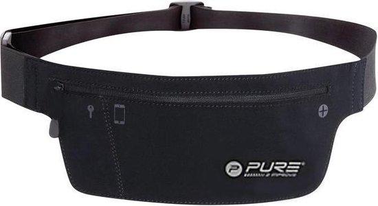 Pure2Improve - Sport heupband - hardloop heupband - hardlopen - hardloop riem - zwart - running belt