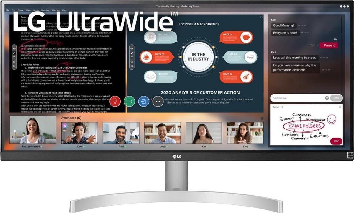 LG 29WN600 – Ultrawide IPS Monitor – 29 inch