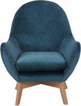 Sortio Home - Fauteuil Milano - Blauw - fauteuil (interieur) - 97 x 87 x 75 - Velvet