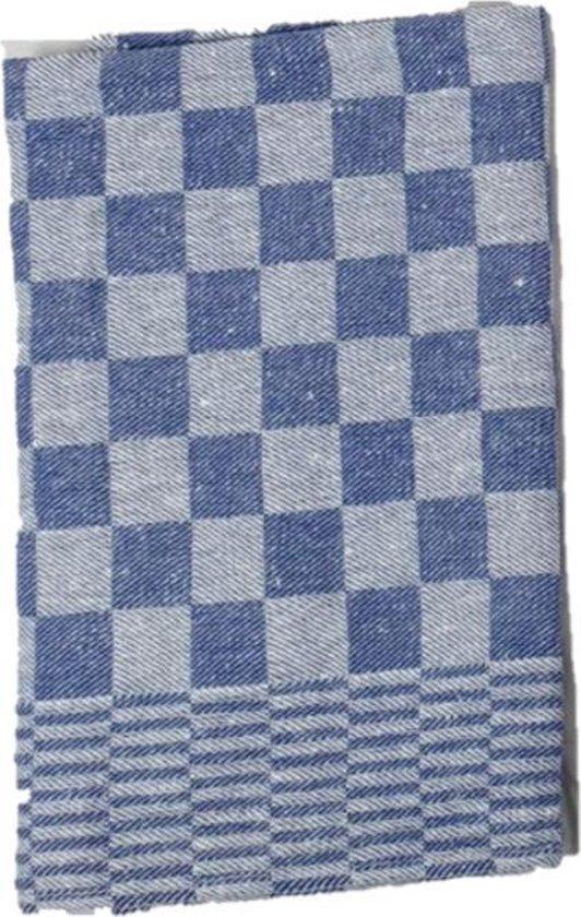 Theedoek - Blauw - Klassieke ruitjes-design - Per 4 stuks - 100% katoen - 65x65 cm