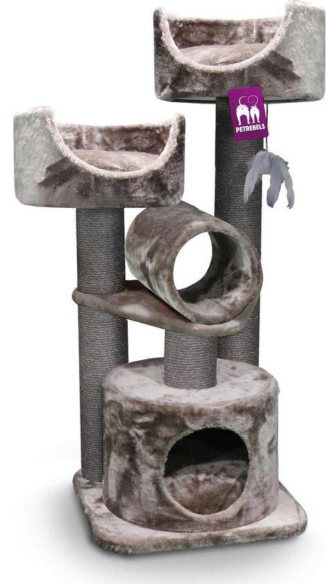 Petrebels Victoria 125 krabpaal - Cappuccino - 48,5 x 48,5 x 125 cm - stabiel
