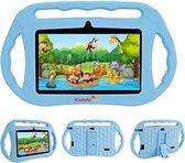 Kindertablet Vanaf 2 Jaar - 7 inch Kinder Tablet - 16GB Geheugen - Gratis Shockproof Beschermhoes Blauw - Camera - Parent Control Modus - Met Wifi en Bluetooth - Educatief