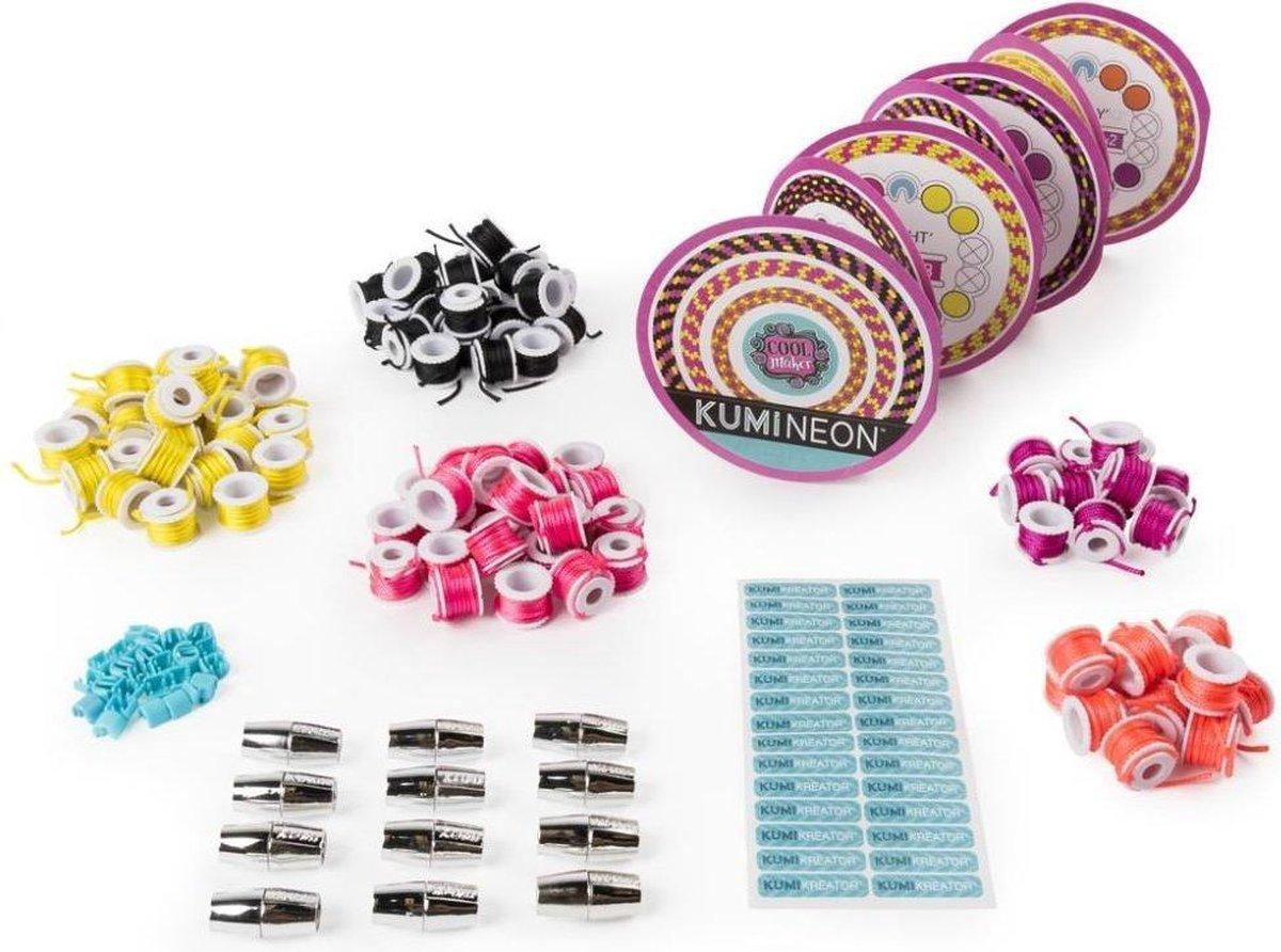 Cool Maker Kumi Kreator Navulverpakkingen met 5 Kleuren + Extra Sjablonen Assorti
