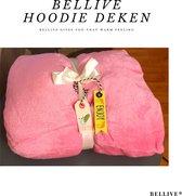 One size hoodie blanket | Huggle hoodie | Deken met mouwen | Winter | Oversized| Sherpa | Roze