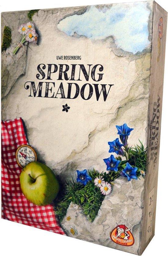 Afbeelding van het spel Spring Meadow - Snel Puzzelspel in de Alpen - Bergwandeling met Schattige Marmotten - Familiespel - Rustgevend Puzzelen - Tetris Stijl - Uwe Rosenberg Trilogie - Vervolg op Patchwork