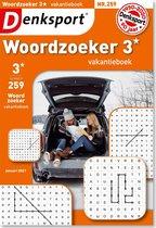 Denksport Puzzelboek Woordzoeker 3* vakantieboek, editie 259