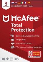 McAfee Total Protection 2021 3 apparaten 1 jaar -