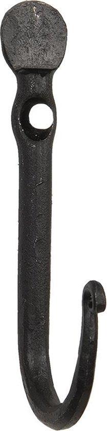 Clayre & Eef Wandhaak 2*5*12 cm Zwart Ijzer Kapstok Wandkapstok