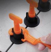 50x Tegel Levelling Systeem Set | Nivilleer Systeem Tegelzetten | Betegelen Badkamer Keuken Wandtegels Vloertegels | Badkamertegels Keukentegels Nivilleersysteem |Tegel Levelingsysteem plus Sleutel – Tile Leveling System