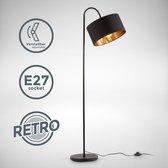 B.K.Licht - Vloerlamp - woonkamer - zwart goud - draaibar - retro - staande lamp - staanlamp - excl. E27