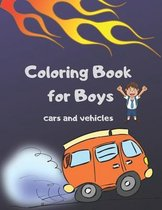Coloring Book for Boys Cars and Vehicles
