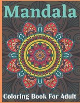Mandala Coloring Book For Adult: Large Print Mandala Designs for Stress Relief and Adult Relaxation