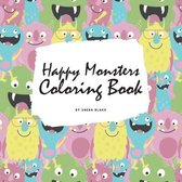 Happy Monsters Coloring Book for Children (8.5x8.5 Coloring Book / Activity Book)
