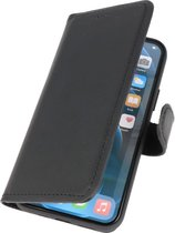 MP case echt leer bookcase iPhone 7 / 8 / SE 2020 Zwart hoesje