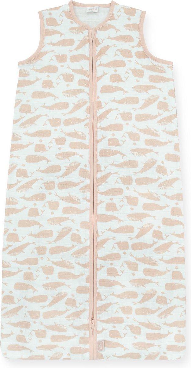 Jollein Whales Slaapzak zomer 90cm hydrofiel pale pink