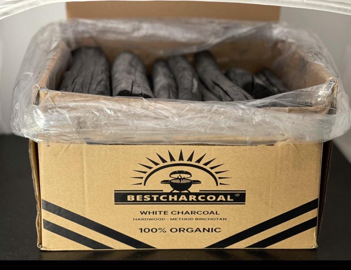 """Houtskool Binchotan """"Bestcharcoal"""" , White Charcoal Hardwood, 7,5 kg"""